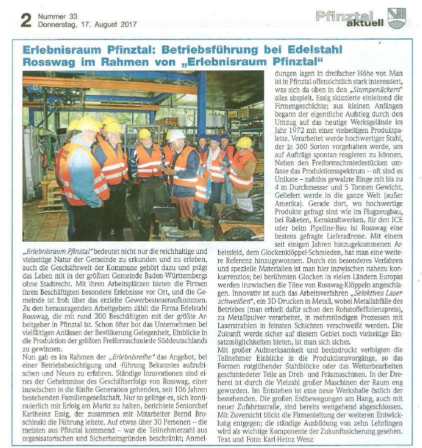News   Rosswag GmbH